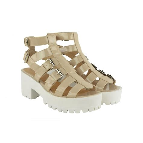 chunky heel sandals lexie cut out chunky heel buckle sandals