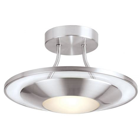 Flush Ceiling Lights Endon Satin Chrome Flush Fitting Ceiling Light Endon 387 30sc