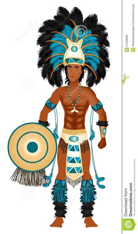 imagenes de trajes aztecas para hombres aztec carnival costume stock vector illustration of
