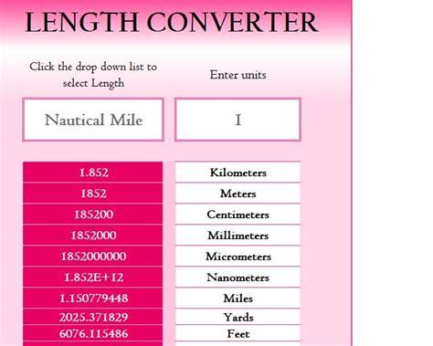 length converter calculator  excel templates