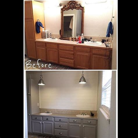 seagull gray milk paint cabinets absolutely in love with this bathroom make over from