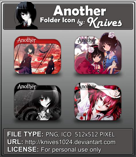 another anime icon by animexfreak1998 on deviantart another anime folder icons by knives by knives1024 on