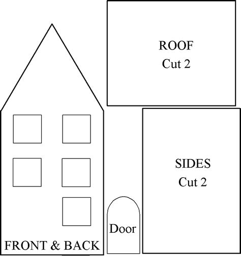 template of house cart before the houses for you and me