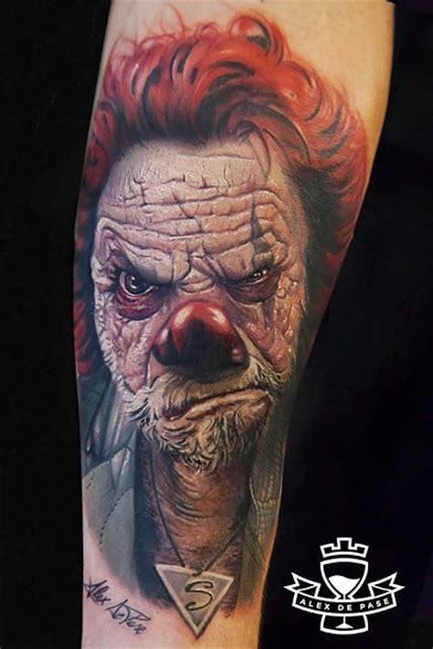killer clown tattoos awesome 3d evil clown portrait