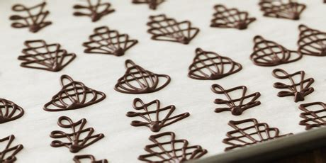 How To Make Decorative Chocolate by Piped Chocolate Garnishes Recipes Food Network Canada