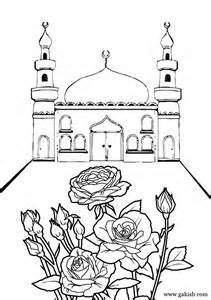 Mosque Coloring Page Mechet Raskraski Musulmanskie Girl Rose1jpg 723  sketch template