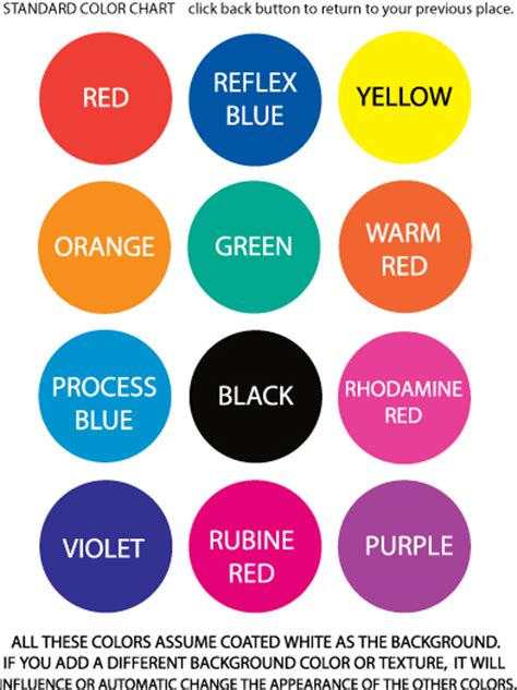basic color chart site map for labels usa