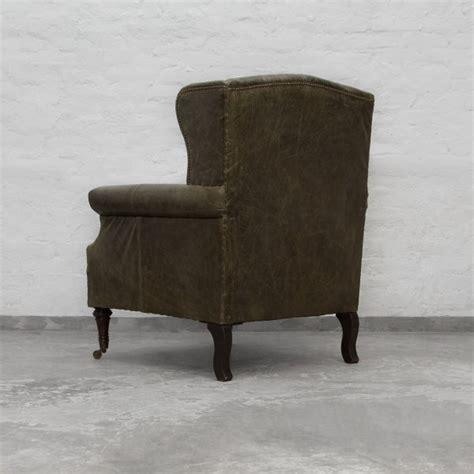 Wingback Leather Armchair by Ballard Estate Wingback Leather Armchair 1