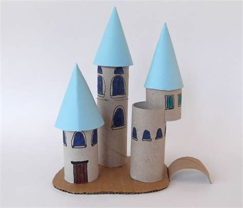 Toilet Paper Roll Castle Craft - princess palace with toilet paper roll toilet paper