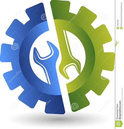 Modern Design House Plans by Wheel Spanner Logo Stock Vector Image 43587482