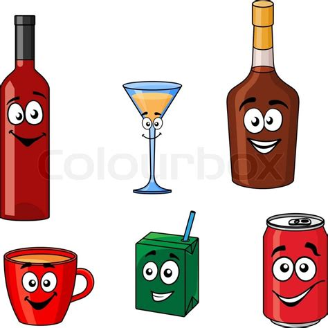 martini cup cartoon cartoon with smiling and joyful faces of assorted