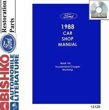 free service manuals online 1990 ford thunderbird parental controls 1988 ford mustang parts ebay