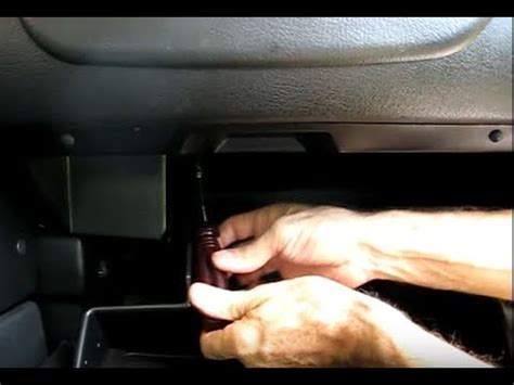 glove box removal youtube