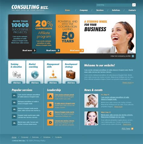 Consulting Website Template 25556 Consulting Website Template