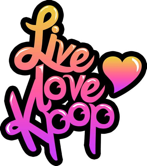 Korean Artwork by Quot Live Love Kpop Sticker Quot Stickers By Pinkbook Redbubble