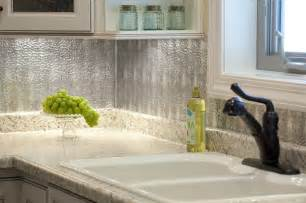 hammered metal sheets backsplash kitchen