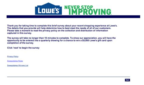 Lowes Gift Card Amount - www lowes com survey how to take part in the lowe s customer survey