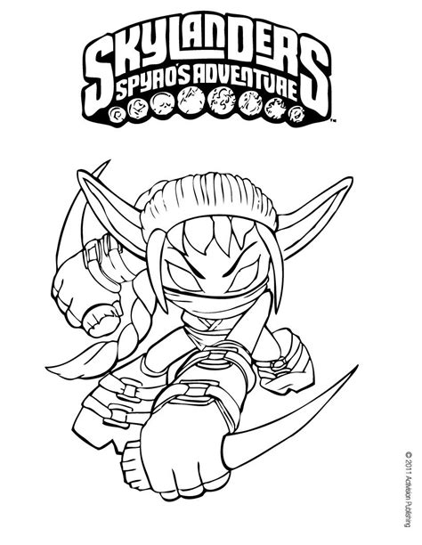 skylanders coloring pages stealth elf stealth elf coloring pages hellokids com