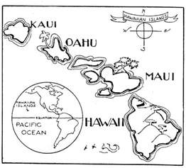 hawaii coloring pages a to z stuff hawaii map color page