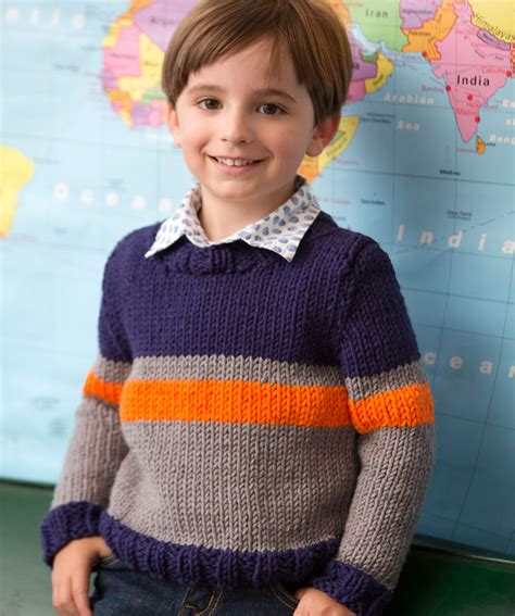 Red Heart Knitting Patterns Sweaters For Boy | big boy sweater knitting pattern red heart