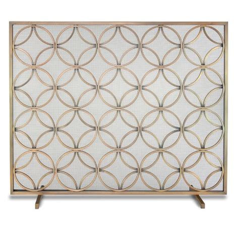 Single Panel Fireplace Screens by Single Panel Fireplace Screen Burnished Brass West Elm