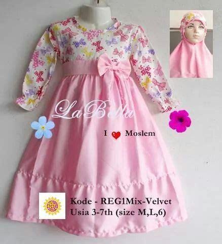 Pretty Dress Formal Anak 2aloise gamis anak bahan katun jepang kombinasi satin velvet ready size m 3 4th dan l 5 6th harga rp