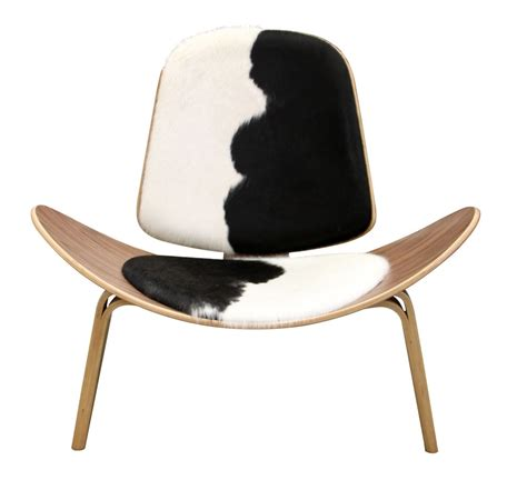 Modern Cowhide Chair - tripod plywood modern lounge chair cowhide upholstery
