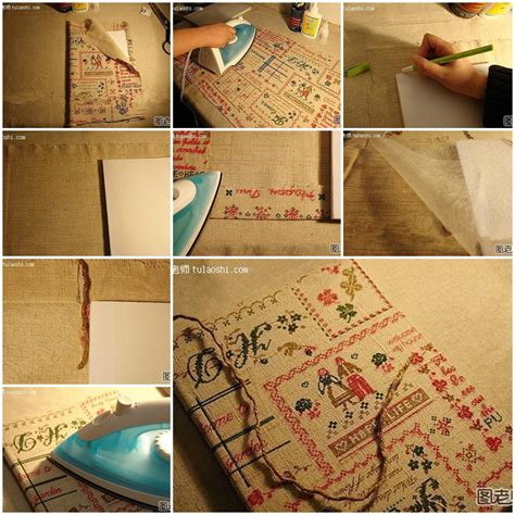 How To Make A Book Cover From A Paper Bag - how to make classical book cover step by step diy