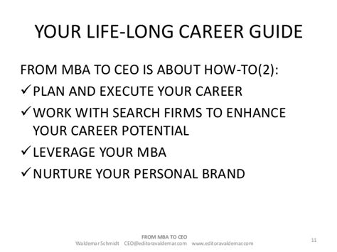 How To Choose A Career With An Mba by Do You Of Becoming A Ceo If Your Deam Is To Become