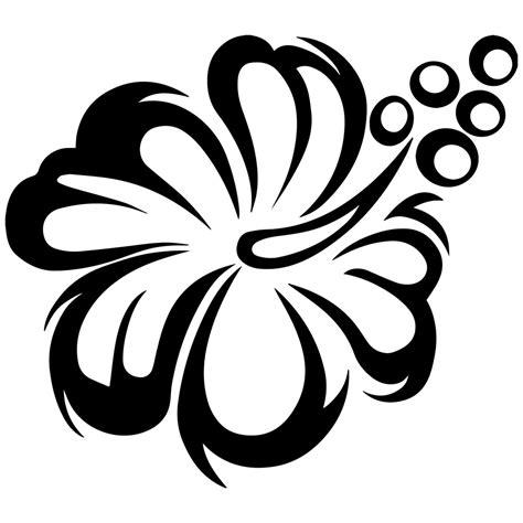 gumamela flower clipart black and white clipartxtras