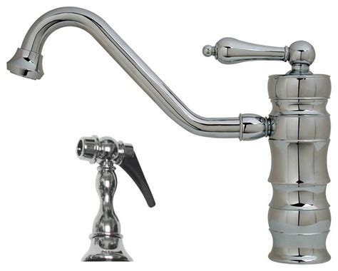 farmhouse faucet kitchen vintage iii single faucet traditional swivel spout w