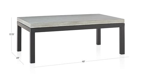 Parsons Rectangular Coffee Table With Parsons Small Rectangular Steel Coffee Table With Concrete Top Crate And Barrel