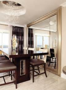 Dining Room Wall Mirrors Decorate Using Oversized Mirrors