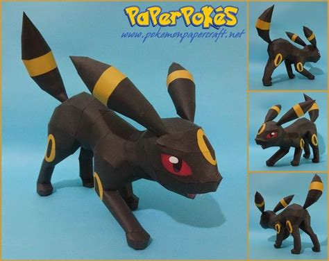 Papercraft Umbreon - paperpok 233 s pok 233 mon papercrafts umbreon attack paper