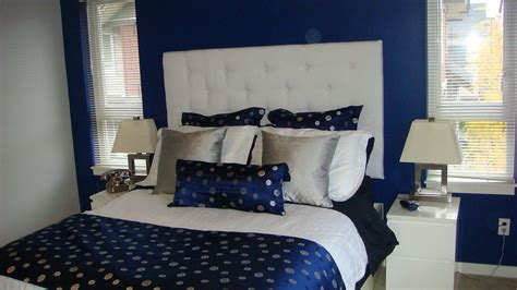 navy blue and white bedroom navy blue silver white bedroom with white padded headbo