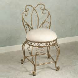 cool bathroom vanity chair with back and intricate frame