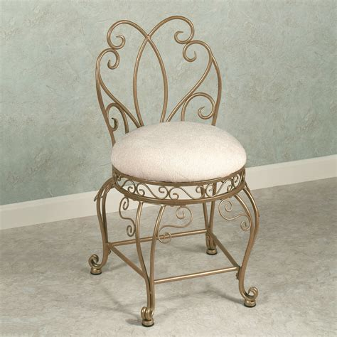 Cool Bathroom Vanity Chair With Back And Intricate Frame Vanity Bathroom Chairs
