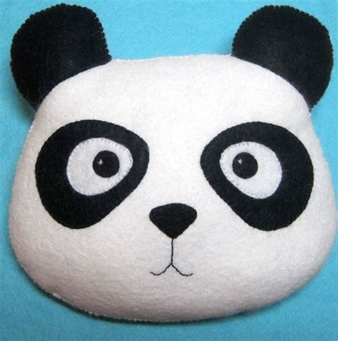 Nursery Pillow Bantal Menyusui panda pillow plush felt stuffed animal decoration childs nursery decor valentines day gift