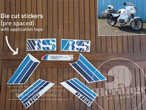 Bmw Heritage Sticker by R100rs Mono Last Edition Decals 1986 1988 Heritage
