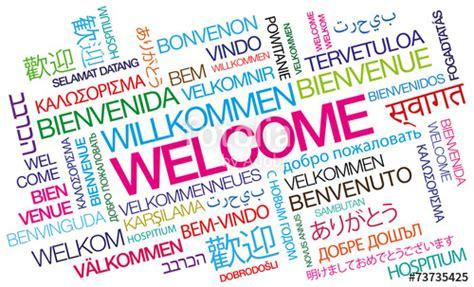 Word Vorlage Herzlich Willkommen Quot Welcome Bienvenue Willkommen Bienvenido Word Tag Cloud Quot Photo Libre De Droits Sur La Banque D