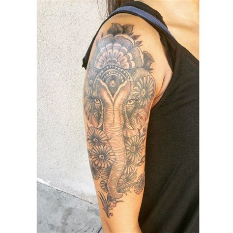 elephant arm tattoo feminine elephant sleeve tattoos
