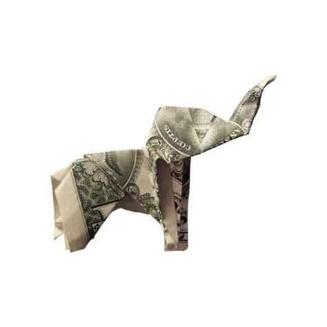 Dollar Bill Origami Elephant - amazing imagination with origami money folding pix o plenty