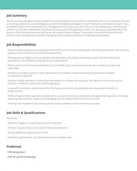 education job description templates samples livecareer