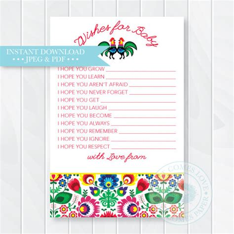 Baby Shower Wishes For Baby Boy by Wishes For Baby Advice Cards