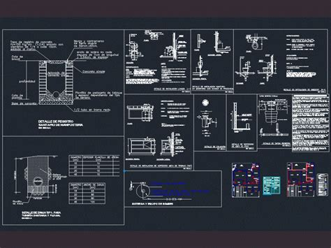 sanitary  stormwater facilities dwg detail  autocad