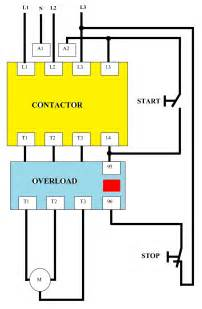 direct on line dol wiring diagram for 3 phase with 110 230vac circuit elec eng world