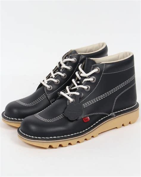 Sepatu Kickers Brontosaurus Casual Brown Leather kickers kick hi boots in leather navy kickers from 80s