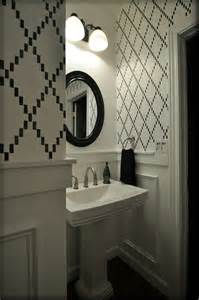 Bathroom Wall Stencil Ideas by Trellis Wall Stencils Contemporary Bathroom Valspar