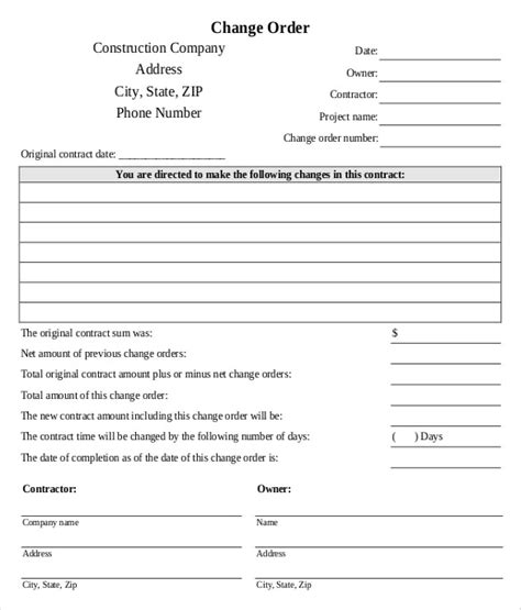sample maintenance work order form 6 free documents in pdf