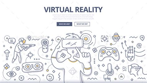 powerpoint templates for virtual reality virtual reality doodle concept by koctia graphicriver